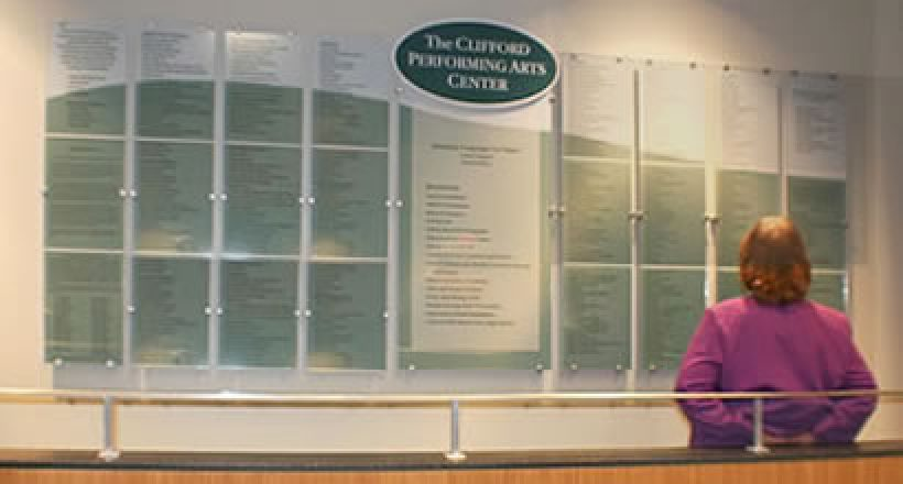 Donor Recognition Wall Signs