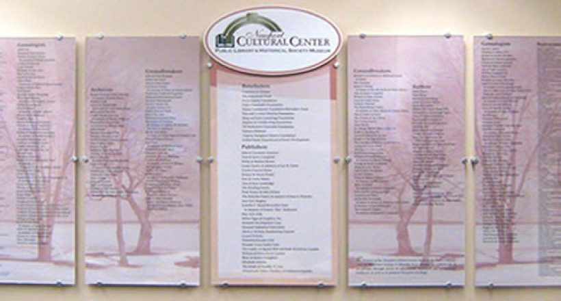 Donor Recognition Wall, Newport Cultural Center