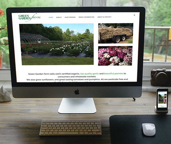 Green Garden Farm website home page