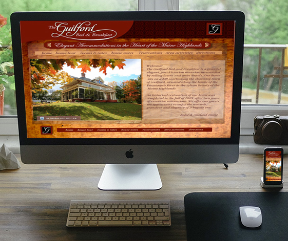 Guilford B & B website home page
