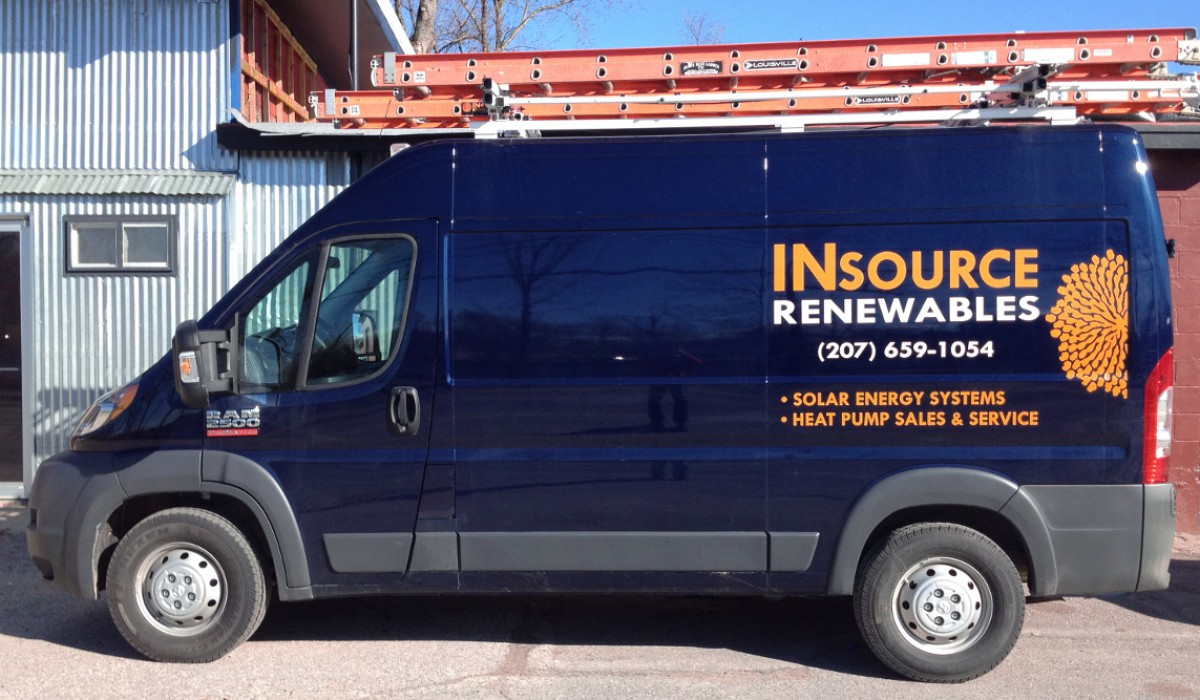 Insource Renewables truck graphics
