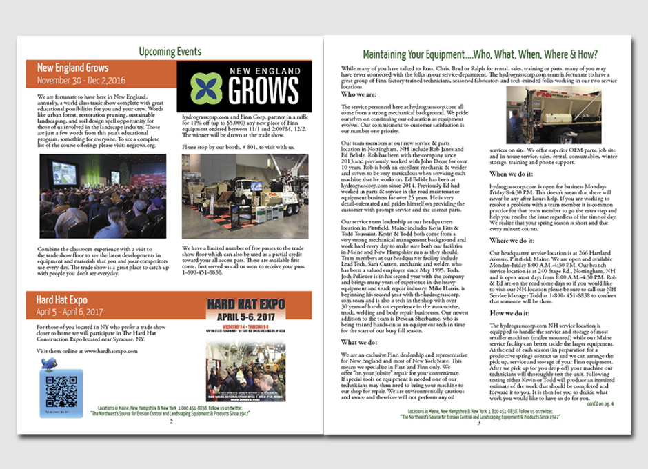 Company Newsletter Layout & Design | | Miller Signs & Graphics