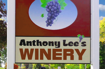 anthony lee's winery sign