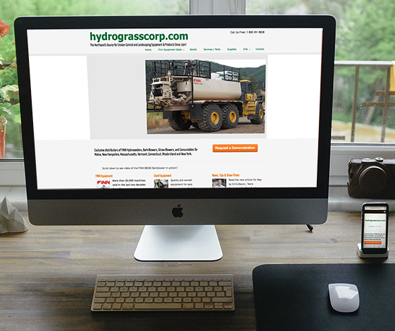 hydrograsscorp.com website home page