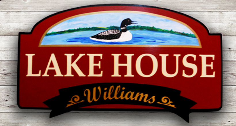 "Camp Sign, ""Lake House"""