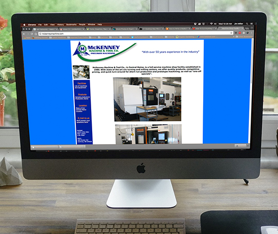 McKenney Machine website home page