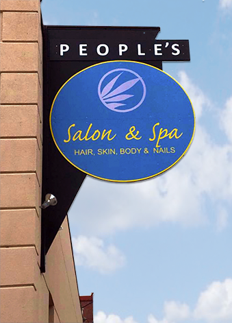 People's Salon & Spa, exterior sign