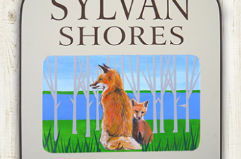 Camp sign for Sylvan Shores