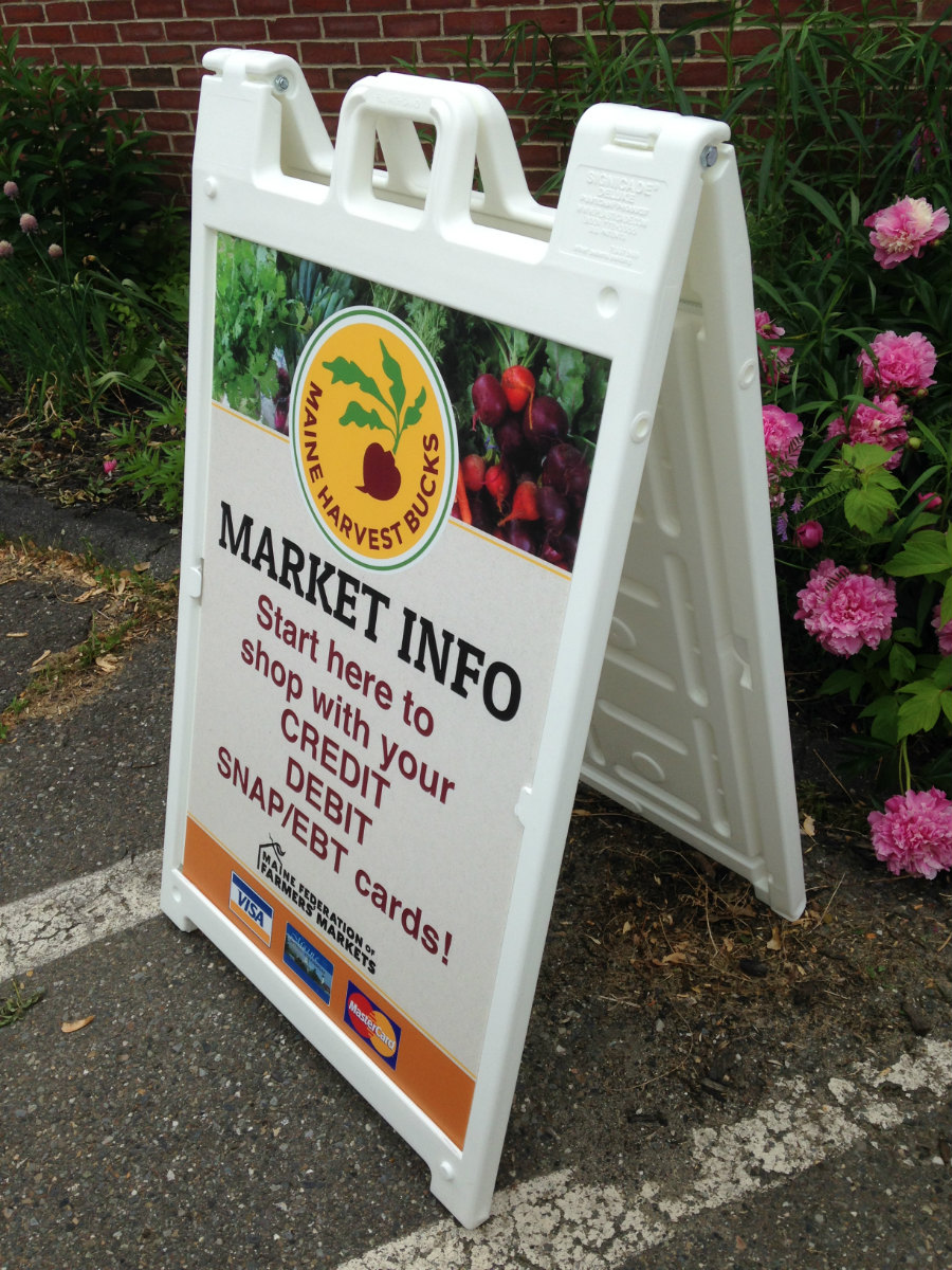 Maine Federation of Farmers' Markets site sign