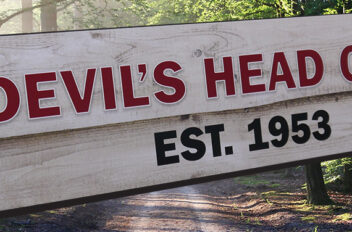 Devil's Head Club camp sign