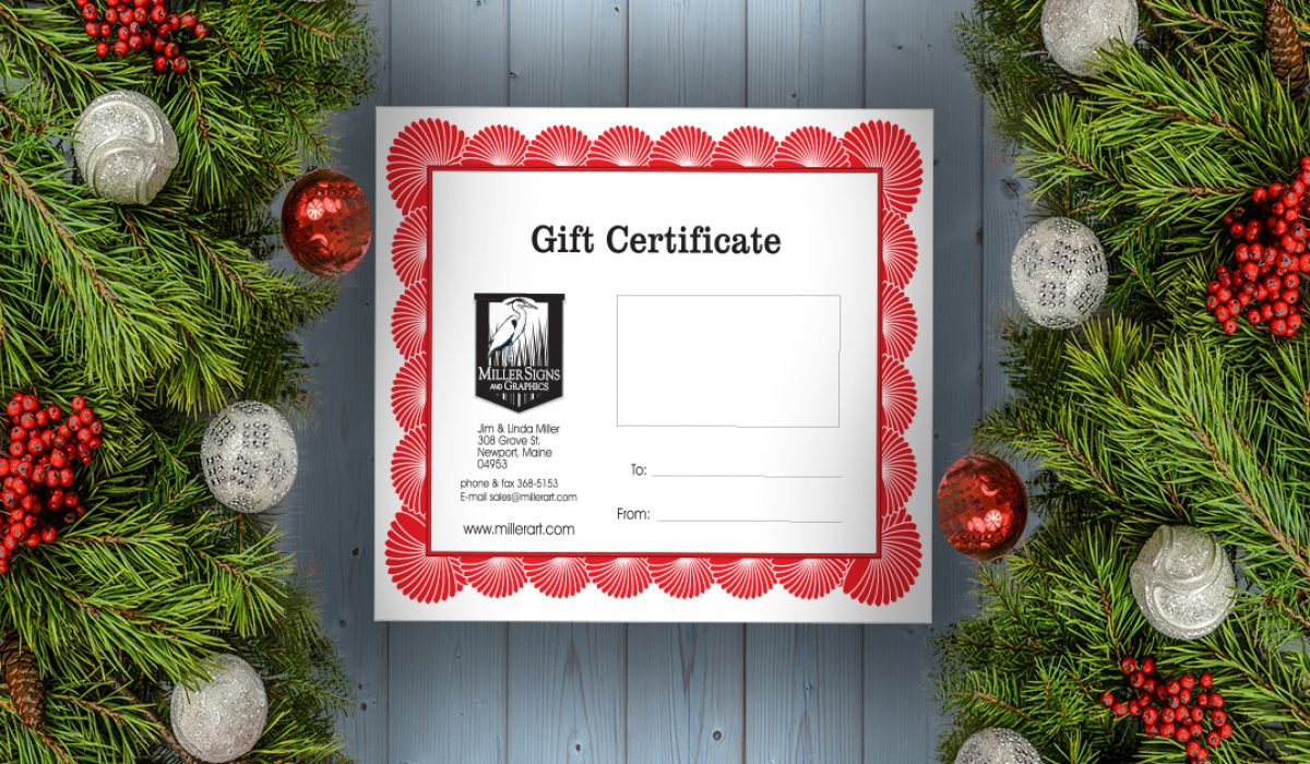 Gift Certificates for Last-Minute Shopping