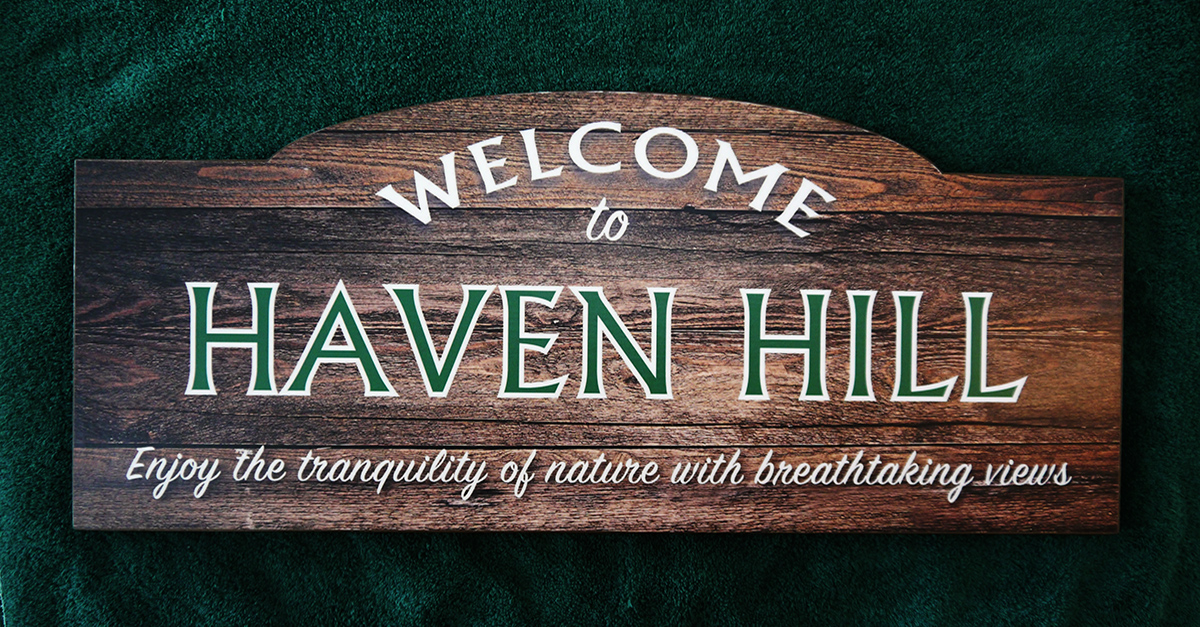 Haven Hill camp sign