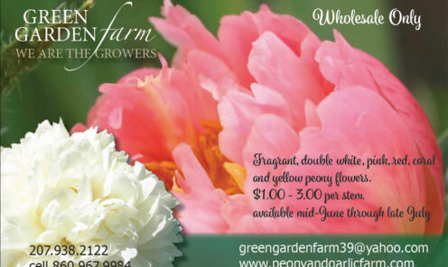 Spring  postcard: Green Garden Farm