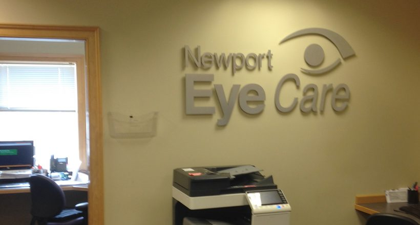 Aluminum letters for Newport Eye Care