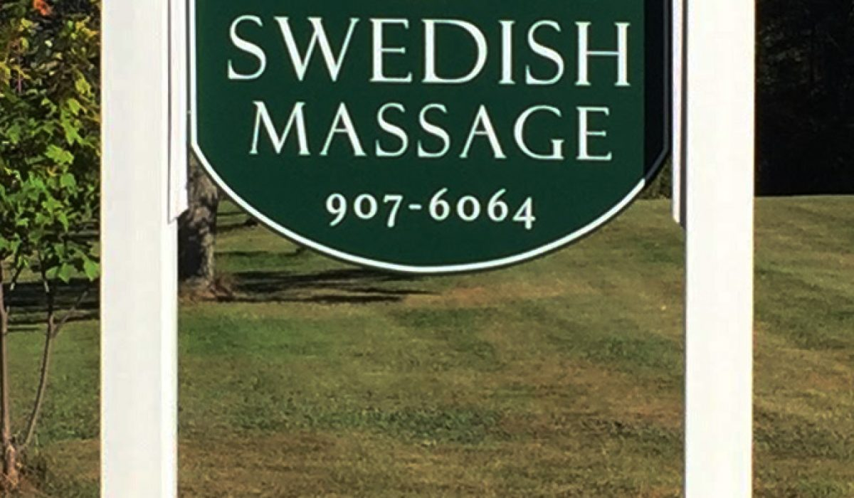 Business Sign w/ carved hands logo
