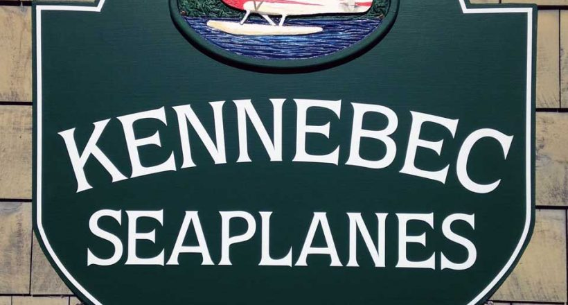 kennebec seaplanes sign