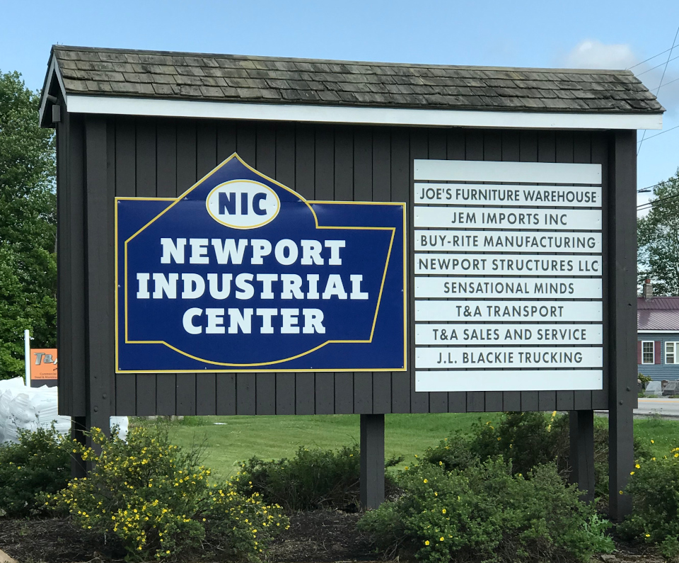 Newport Industrial Park sign