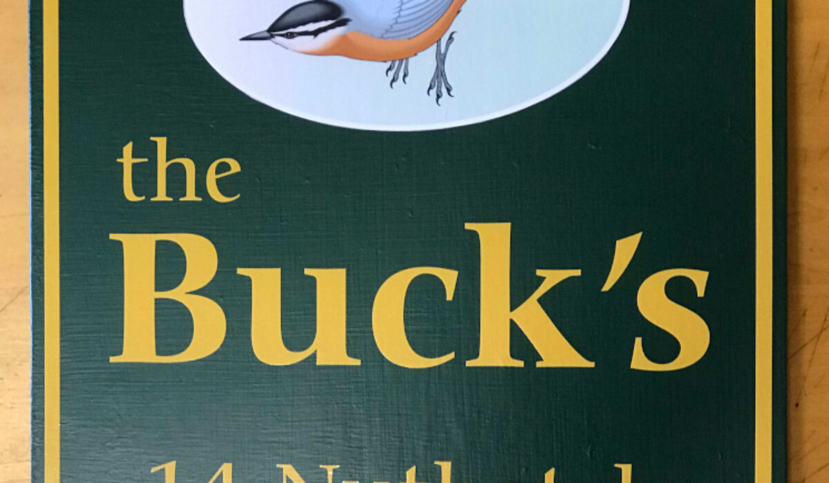 Camp Sign ~ Nuthatch  Lane