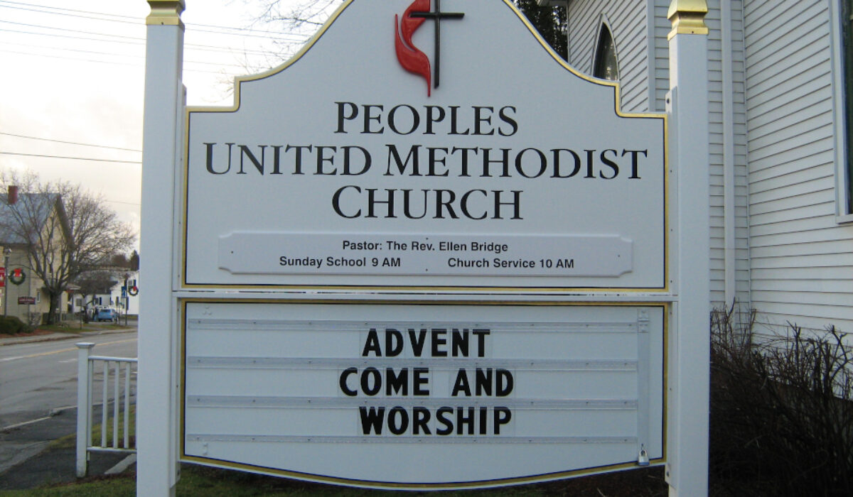 Peoples United Methodist sign