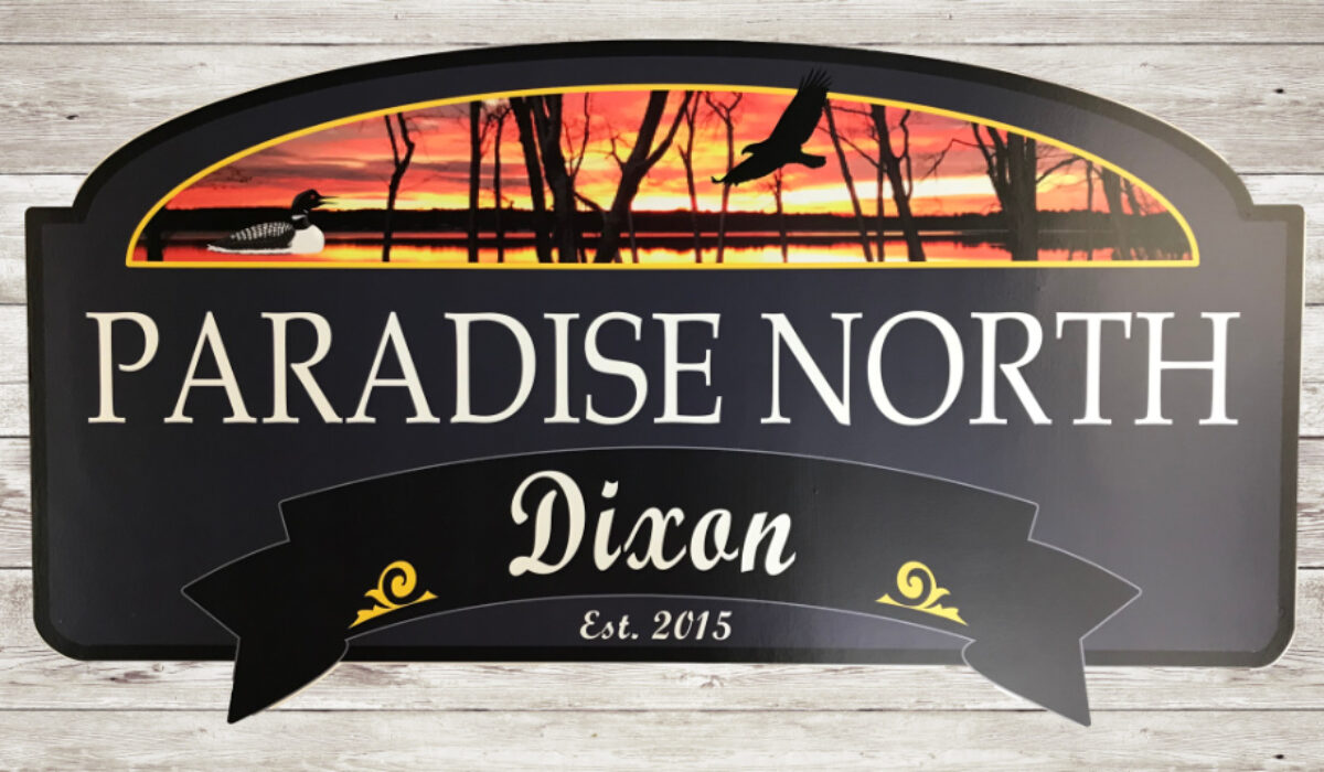 Paradise North sign