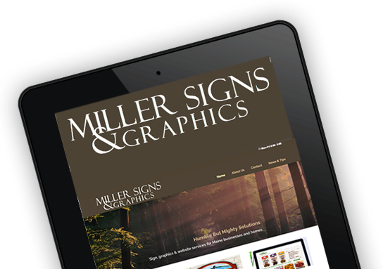 Miller Signs & Graphics logo on iphone